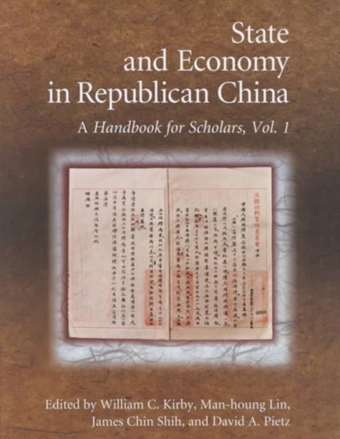 State & Economy of Republican China 2V set – A Handbook for Scholars affair of state an