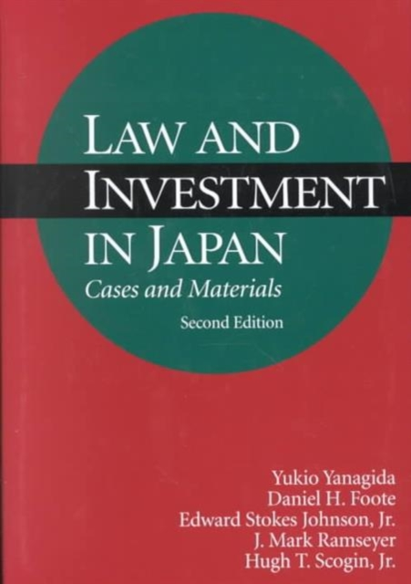 Law & Investment in Japan – Cases & Materials 2e cases materials and text on consumer law