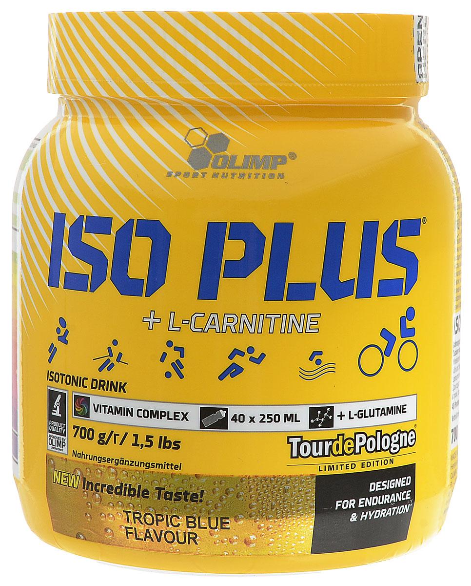 Изотонический напиток Olimp Sport Nutrition Iso Plus Powder, тропик, 700 г гейнер olimp sport nutrition gain bolic 6000 ваниль 3500 г