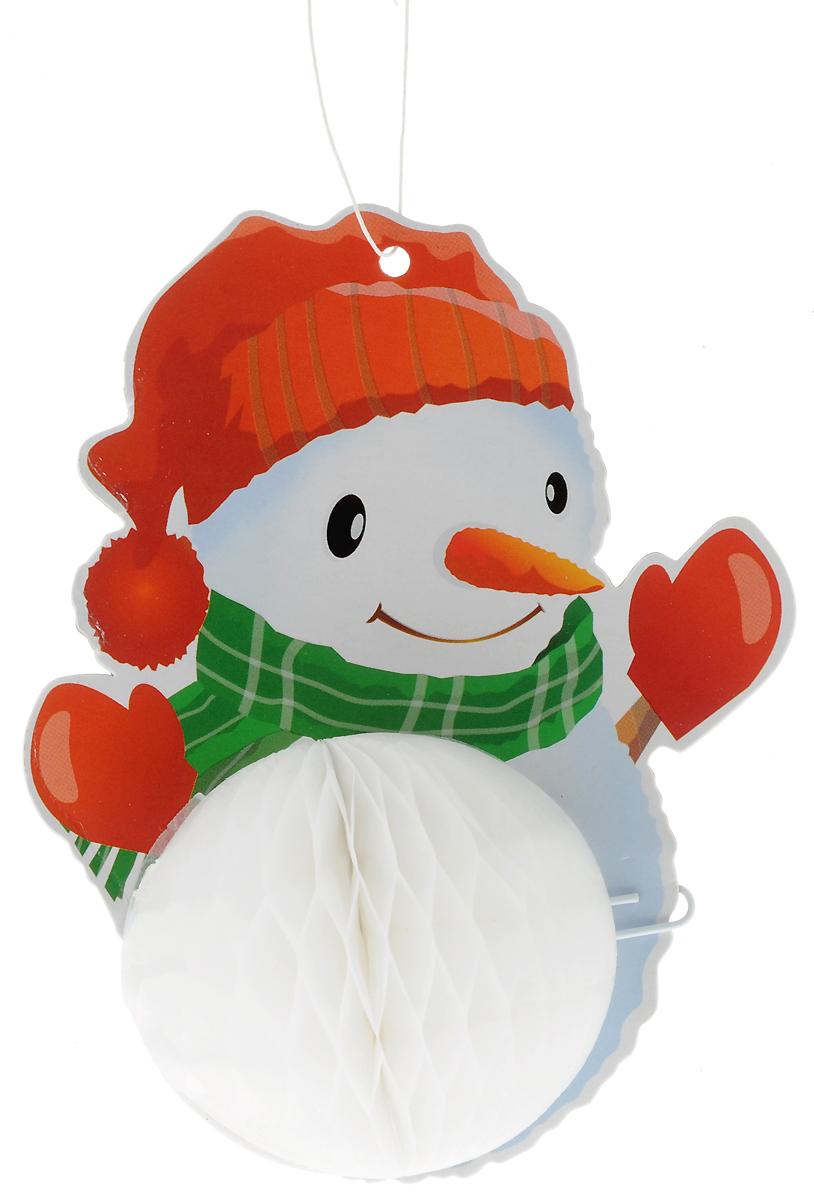 Украшение новогоднее подвесное Winter Wings Снеговик, высота 13,5 смN09256/в наушникахОригинальное новогоднее украшение Winter Wings Снеговик выполнено из прочной бумаги. Украшение можно подвесить в любом понравившемся вам месте.Новогодние украшения приносят в дом волшебство и ощущение праздника. Создайте в своем доме атмосферу веселья и радости, украшая его всей семьей.Высота: 13,5 см.