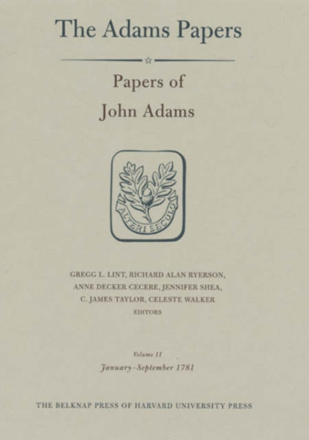 Papers of John Adams – January–September 1781 V11