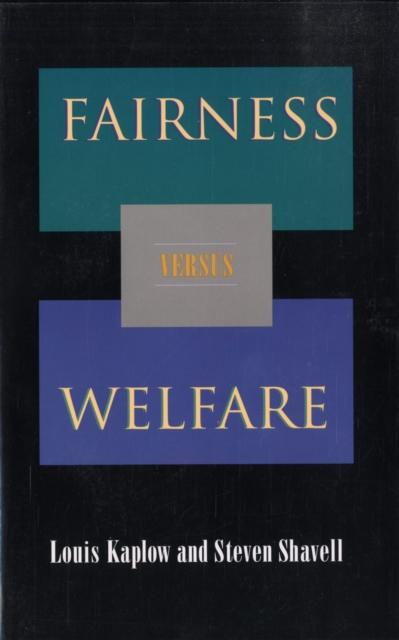 Fairness Versus Welfare global tax fairness