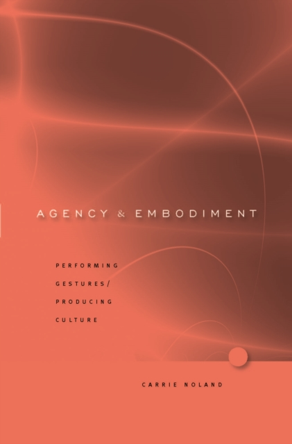 Agency and Embodiment – Performing Gestures/ Producing Culture рекламный стенд revenue producing activities 80x180