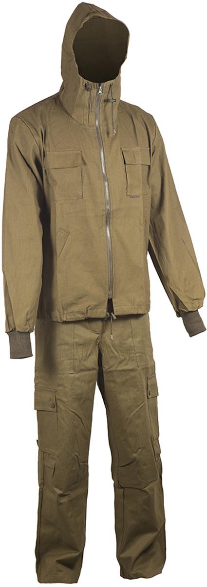 Костюм рыболовный мужской HUNTSMAN Тайга-3: куртка, брюки, жилет, цвет: хаки. t_3_101-037. Размер 60/62, рост 188