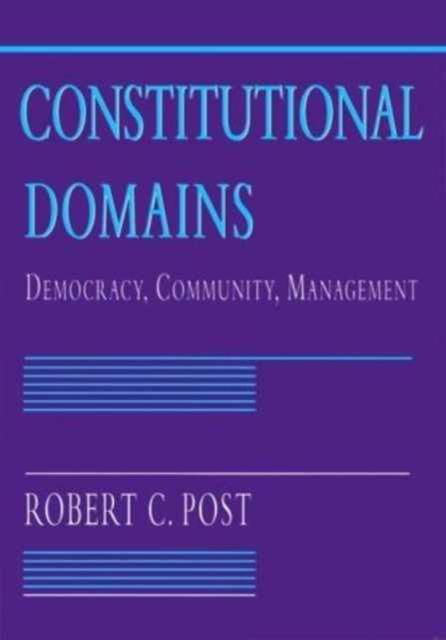 Constitutional Domains – Democracy, Community, Management democracy