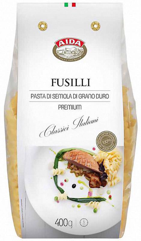 Aida Fusilli спираль, 400 г valio молоко 2 5