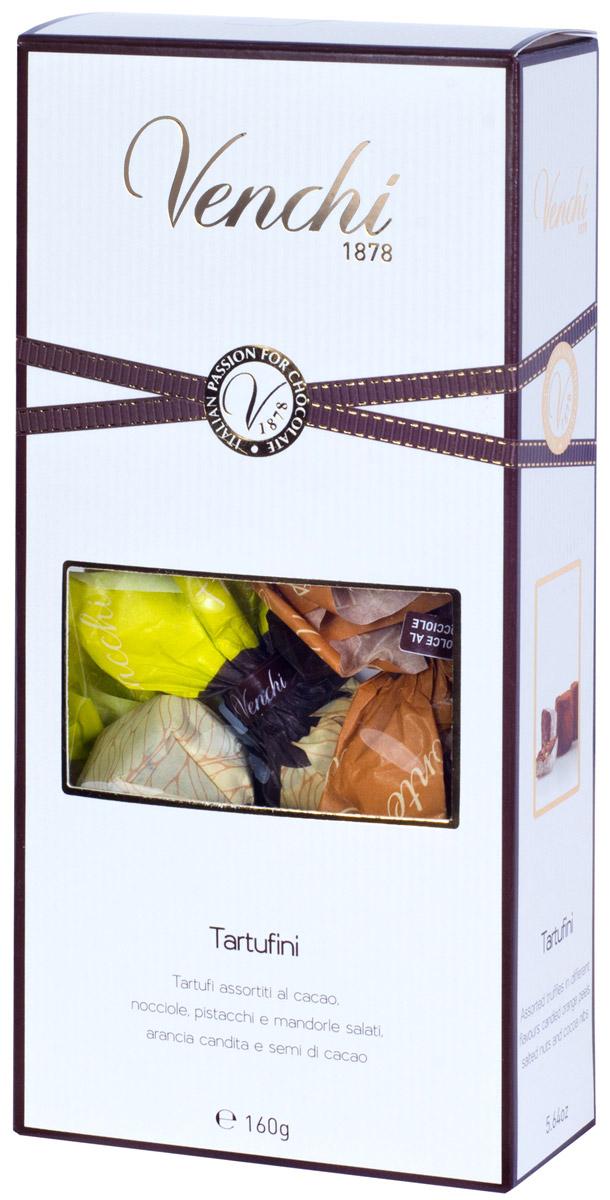 Venchi Tartufini Assortiti конфеты шоколадные трюфели, 160 г пудовъ кексики шоколадные 250 г