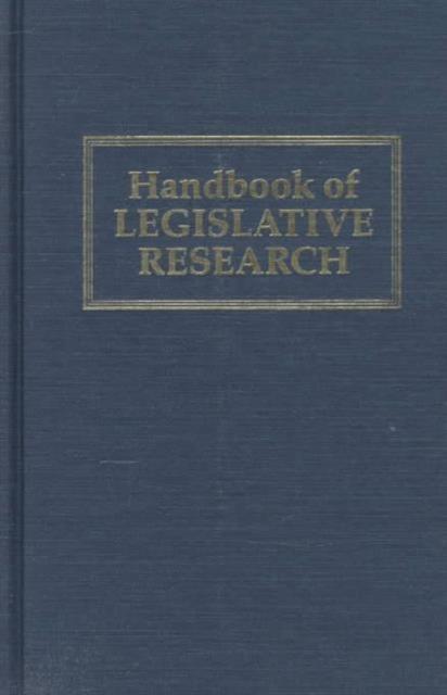 Handbook of Legislative Research handbook of econometrics 2