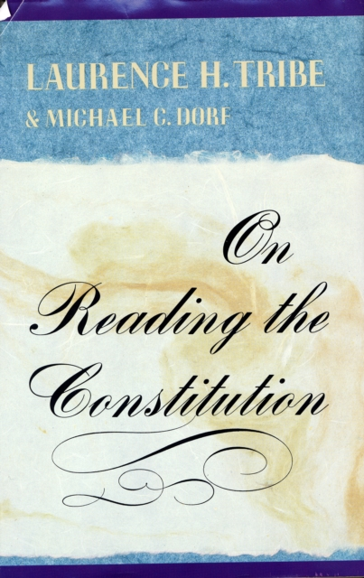 On Reading the Constitution (Paper) the alabama state constitution