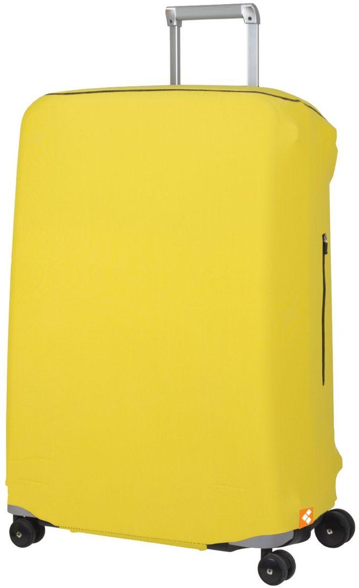 Чехол для чемодана Routemark Defender Pro, цвет: желтый, размер L (72-80 см)DefPRO-Yel-LДля больших чемоданов, высотой от 72 до 80 см (мерить от пола)., 2 потайные молнии для боковых ручек с двух сторон. Внизу чехла - молния, дополнительная резинка с фастексом для лучшей усадки.