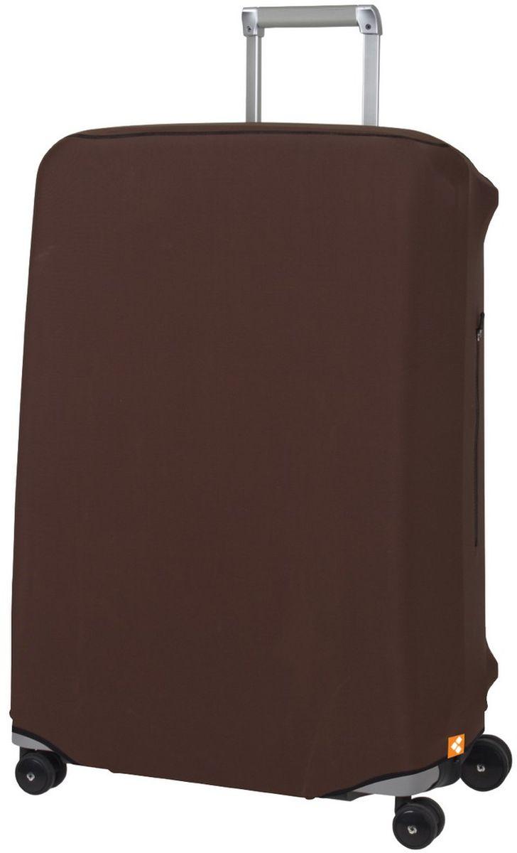 Чехол для чемодана Routemark Defender Pro, цвет: коричневый, размер L (72-80 см)DefPRO-Br-LДля больших чемоданов, высотой от 72 до 80 см (мерить от пола)., 2 потайные молнии для боковых ручек с двух сторон. Внизу чехла - молния, дополнительная резинка с фастексом для лучшей усадки.