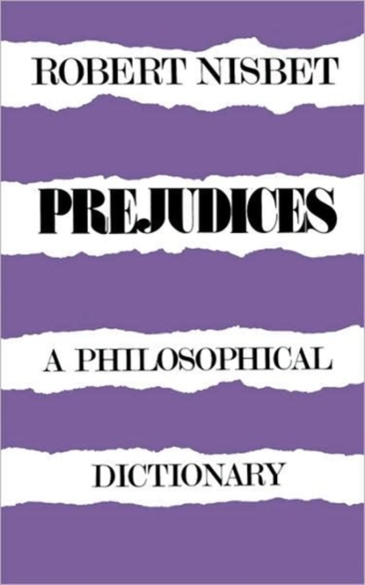 Prejudices – A Philosophical Dictionary (Paper) (Paper)
