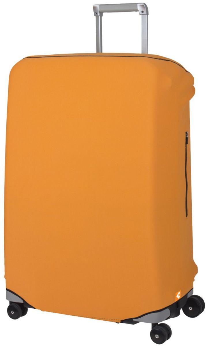 Чехол для чемодана Routemark Defender Pro, цвет: оранжевый, размер L (72-80 см)DefPRO-Or-LДля больших чемоданов, высотой от 72 до 80 см (мерить от пола)., 2 потайные молнии для боковых ручек с двух сторон. Внизу чехла - молния, дополнительная резинка с фастексом для лучшей усадки.