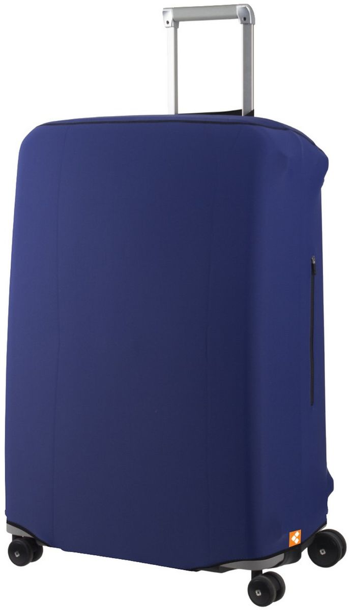 Чехол для чемодана Routemark Defender Pro, цвет: синий. Размер L (72-80 см)DefPRO-Blu-LЧехол Routemark Defender Pro предназначен для больших чемоданов, высотой от 72 до 80 см (мерить от пола). Чехол имеет 2 потайные молнии для боковых ручек с двух сторон. Внизу чехла - молния, дополнительная резинка с фастексом для лучшей усадки.