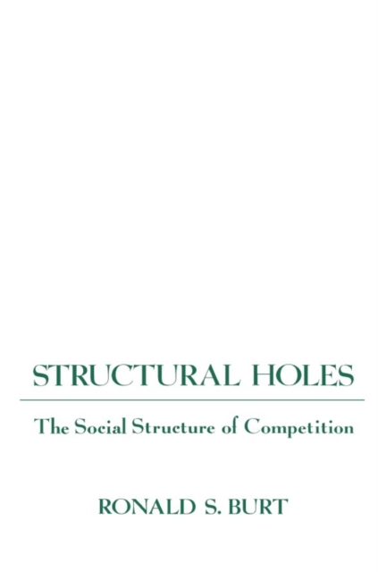 Structural Holes – The Social Structure of Competition (Paper) holes