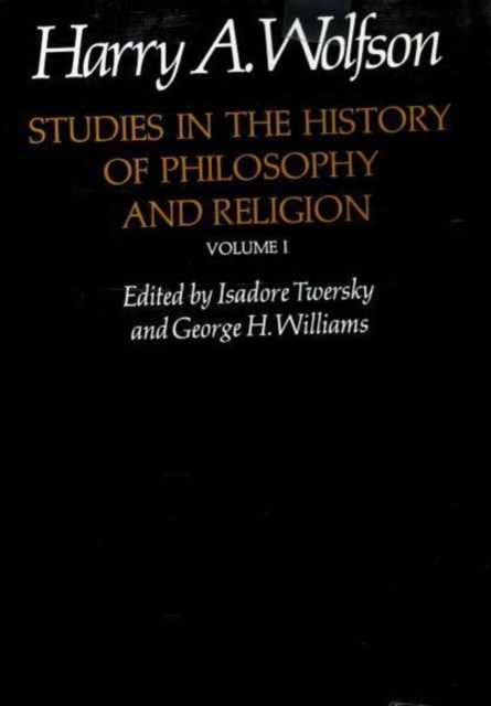 Studies in the History of Philosophy and Religion V 1