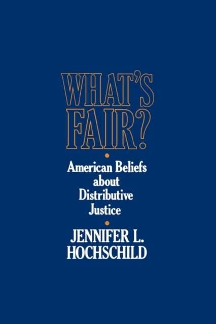 Whats Fair? – American Beliefs About Distributive Justice (Paper) a short history of distributive justice