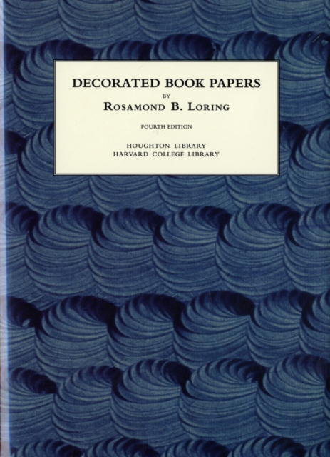 Decorated Book Papers – Being an Account of Their Designs and Fashions