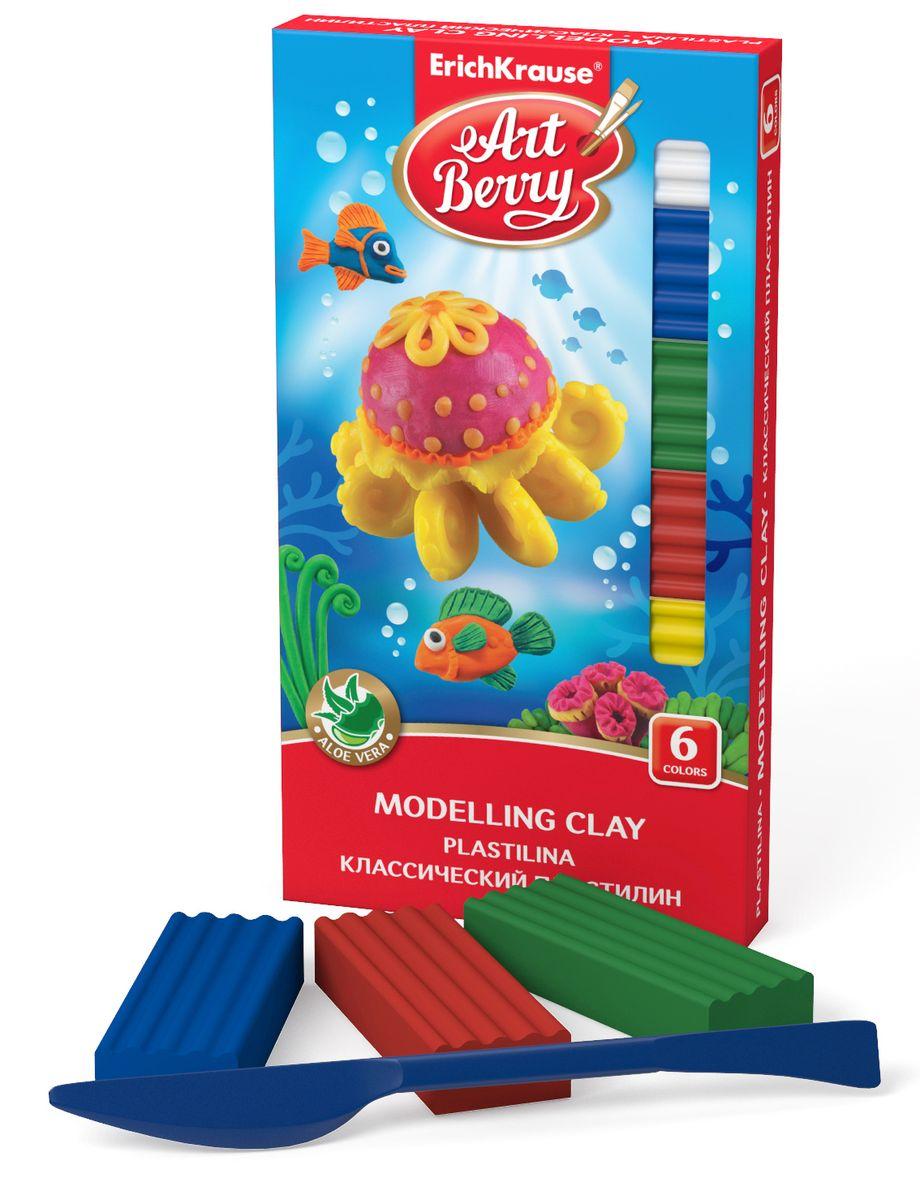 Erich Krause Пластилин ArtBerry 6 цветов41760Пластилин Erich Krause ArtBerry с Алоэ вера нежно заботится о коже ребенка в процессе лепки. Цветовая палитра классического пластилина содержит яркие насыщенные цвета, которые хорошо смешиваются между собой. Производится на основе безопасных компонентов. Сохраняет свою форму, не застывает на воздухе. В комплект входит пластиковый стек.