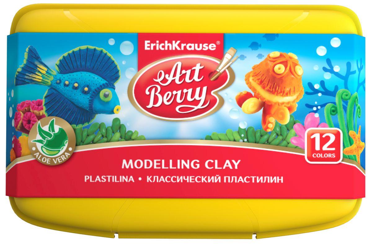 Erich Krause Пластилин ArtBerry 12 цветов в боксе erich krause пластилин artberry imaginary world