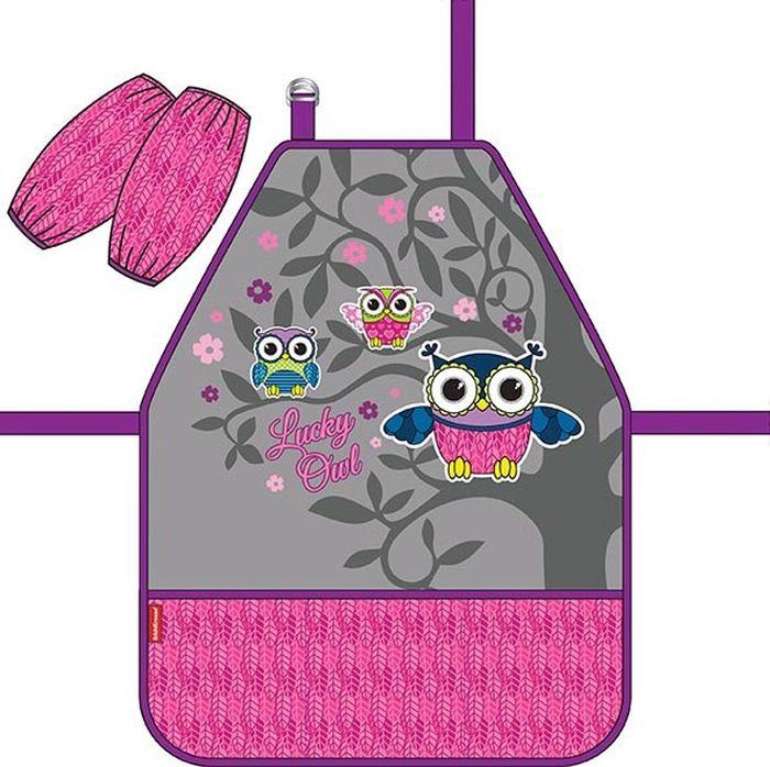 Erich Krause Фартук детский Lucky Owl с нарукавниками -  Аксессуары для труда