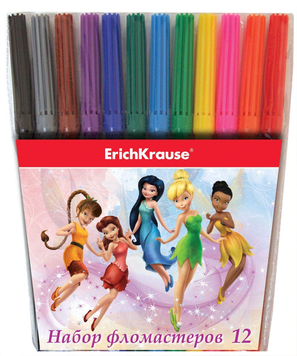 Disney Набор фломастеров Феи Цветочная вечеринка 12 цветов43169Чернила на водной основе. Пишущий узел 2 мм выдерживает сильное нажатие и сохраняет форму в течение длительного срока. Упаковка - картонный короб с европодвесом.