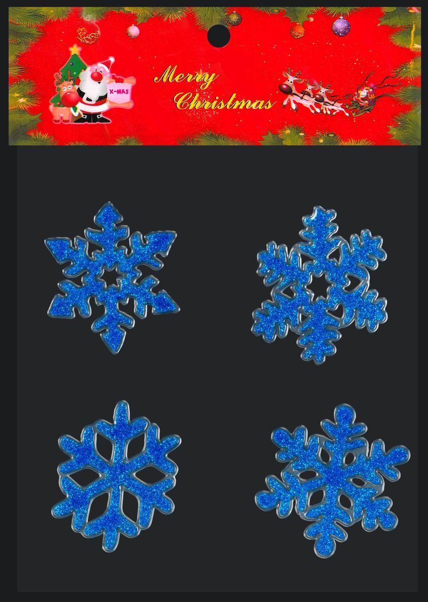 Набор наклеек в виде 4 снежинок - интересное решение для новогоднего декора помещения. С их помощью можно создать снежный узор на окне или прикрепить наклейки на любую стеклянную поверхность. Легко снимаются, не оставляя следов. Снежинки размещены на прозрачной подложке и упакованы в полибэг.