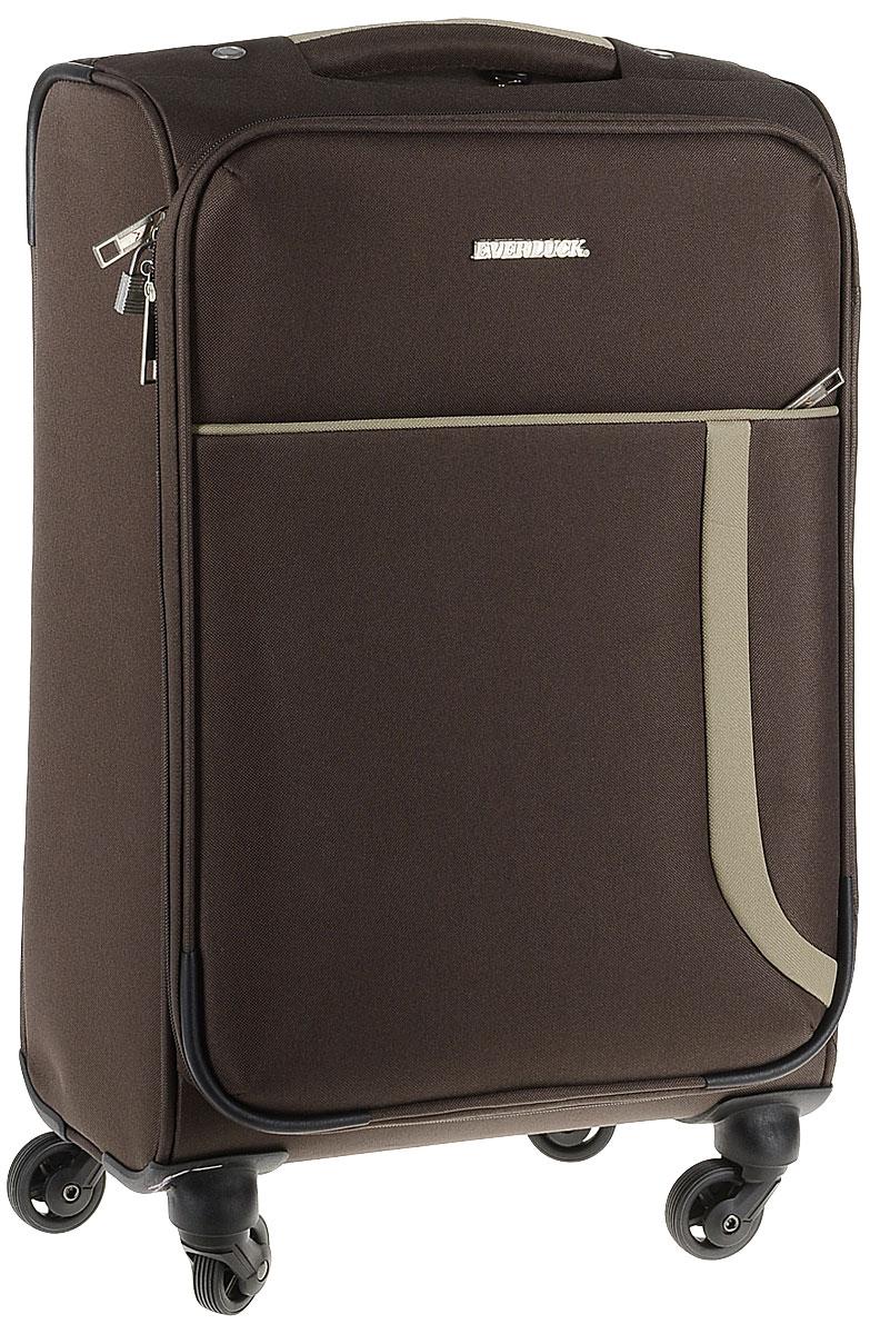 Чемодан текстильный  Everluck , цвет: коричневый, 30 л. ER/ET1703 - Чемоданы и аксессуары