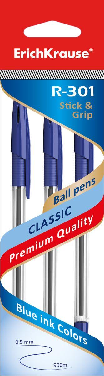 Erich Krause Набор шариковых ручек R-301 Classic 1.0 Stick&Grip 3 шт 42747 erich krause набор тетрадей родные просторы 24 листа в клетку 10 шт