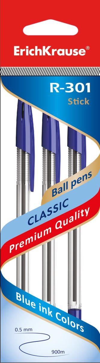 Erich Krause Набор шариковых ручек R-301 Classic 1.0 Stick 3 шт 42618 erich krause угольник clear 60 градусов 225 мм