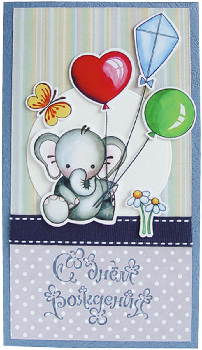 Конверт-открытка Студия Тетя роза Слоник. ОД-0013ОД-0013