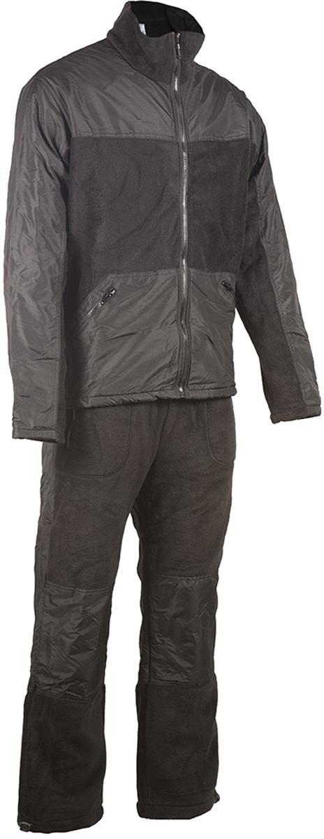 Костюм рыболовный мужской HUNTSMAN Пикник-Люкс, цвет: черный. pc_100_lux-901. Размер 52/54, рост 182pc_100_lux-901Мягкий, теплый, флисовый костюм Пикник от Huntsman состоит из куртки и брюк. Комплект подойдет для повседневной носки в прохладную погоду. Также его можно поддевать под зимнюю рыболовную одежду. Подходит как для отдыха на природе, так и для домашней носки.Изделия выполнены из флиса со вставками из ткани Taslan. Куртка на молнии c воротником-стойкой и утяжками по нижнему краю дополнена двумя боковыми карманами. Брюки прямого кроя с резинкой и шнуром в поясе также имеют два кармана и утяжки по низу брючин.