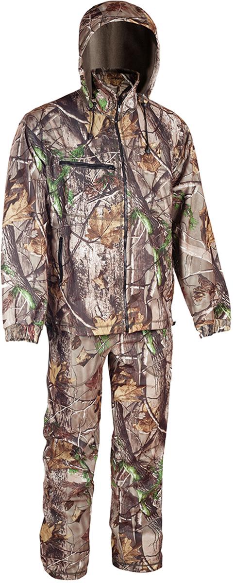 Костюм рыболовный мужской HUNTSMAN Никс Люкс, цвет: светлый лес. n_100_lux-029. Размер 56/58, рост 182n_100_lux-029Непромокаемый и непродуваемый костюм Никс от Huntsman состоит из демисезонной куртки и полукомбинезона. Изделия выполнены из материалаWindbloсk (Алова + мембрана + Polar Fleece) с использованием плоскошовной технологии пошива.Куртка со съемным капюшоном застегивается на молнию и дополнена 4 карманами на молниях. Манжеты рукавов дополнены резинками. По низу предусмотрена утяжка со стопперами. Полукомбинезон свободного покроя на эластичном поясе и с регулируемыми бретелями спереди застегивается на молнию. Изделие имеет 4 кармана и утяжки по нижнему краю брючин.