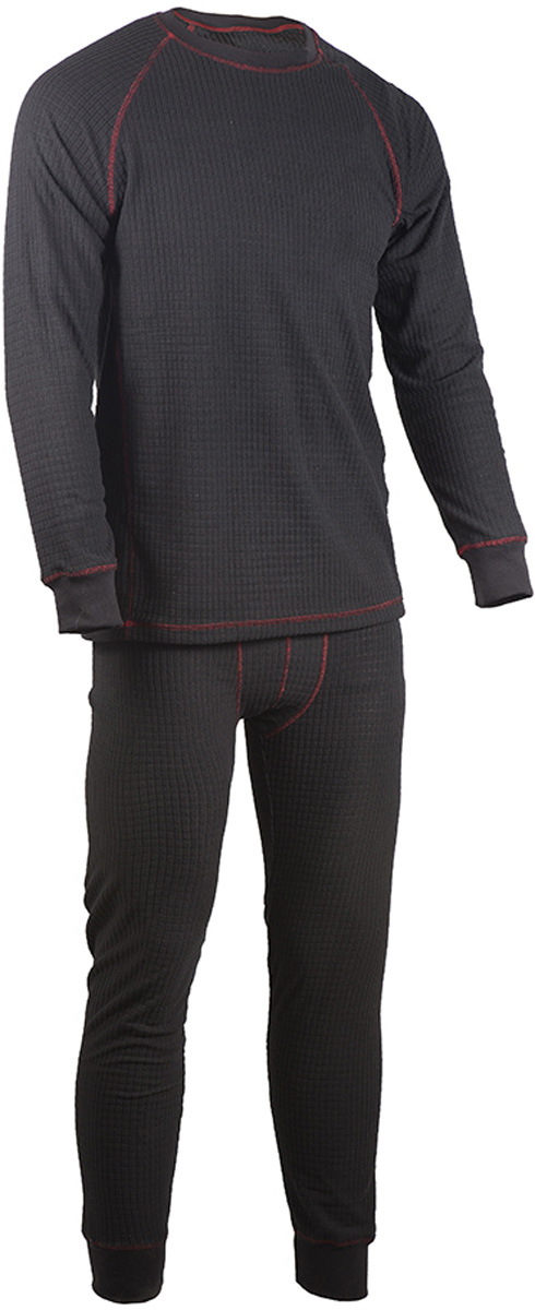 Комплект термобелья мужской HUNTSMAN: брюки, кофта, цвет: черный. hf_101-901. Размер L (48/50), рост 176hf_101-901Термобелье ThermoLine Huntsman второго слоя предназначено для использования в критически низких температурах до - 40°С. Удерживает до 85 % полезного тепла. Гипоаллергенно. Уникальная технология без внутреннего шва обеспечивает комфортную носку. Позволяет сократить вес экипировки до 30 %. Использование термобелья наиболее эффективно с термобельем первого слоя и мембранными костюмами. Тк. Micro Fleece 160 гр/м2 ФАКТУРНЫЙ