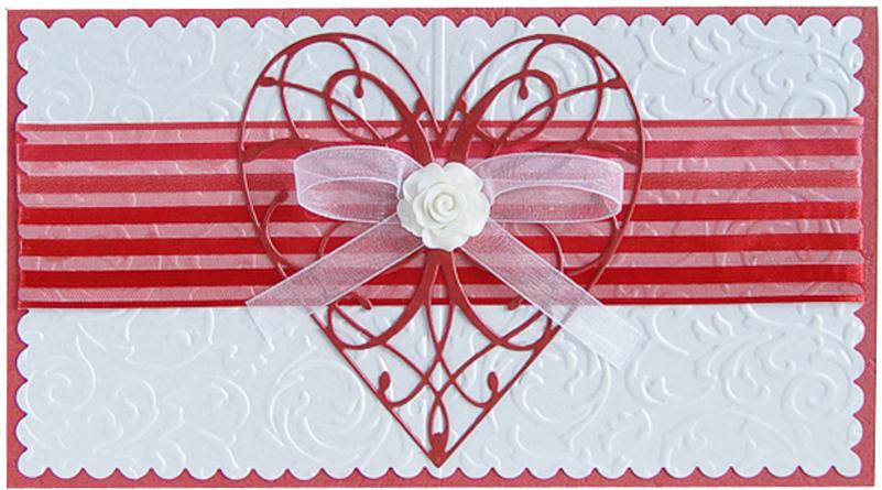 Конверт-открытка Студия Тетя роза Сердце. ОВЛ-0019ОВЛ-0019