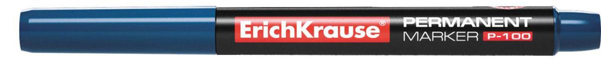 Erich Krause Маркер перманентный P-100 синий 1284212842Универсальный тонкий перманентный маркер. Предназначен для письма и маркировки практически на всех поверхностях: бумага, картон, стекло, пластик, фарфор, керамика, дерево и другие. Наконечник пулевидной формы, устойчивый к повреждению и истиранию. Чернила на спиртовой основе, водоcтойкие, светостойкие, стойкие к ультрафиолетовым лучам. Быстро высыхают после нанесения. Нетоксичные. Не содержат ксилол. Стабильное письмо при снижении давления (в самолете).Ширина письма: 0,5-1,2 мм. Длина письма: 662 м.