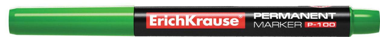 Erich Krause Маркер перманентный P-100 зеленый 1284412844Универсальный тонкий перманентный маркер. Предназначен для письма и маркировки практически на всех поверхностях: бумага, картон, стекло, пластик, фарфор, керамика, дерево и другие. Наконечник пулевидной формы, устойчивый к повреждению и истиранию. Чернила на спиртовой основе, водоcтойкие, светостойкие, стойкие к ультрафиолетовым лучам. Быстро высыхают после нанесения. Нетоксичные. Не содержат ксилол. Стабильное письмо при снижении давления (в самолете).Ширина письма: 0,5-1,2 мм. Длина письма: 662 м.