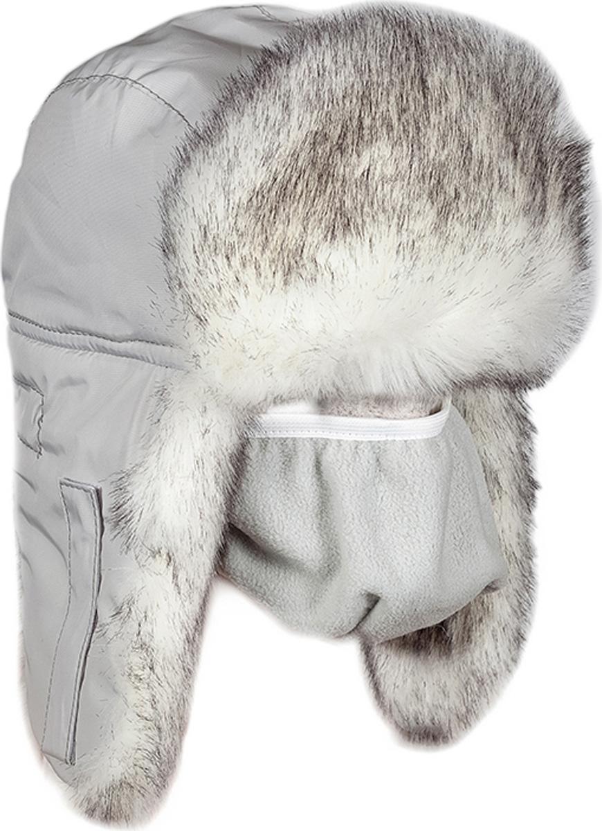 Шапка мужская HUNTSMAN Волк полярный, цвет: белый. he_100_vp-917. Размер 56/58he_100_vp-917Шапка-ушанка с маской Волк полярный от Huntsman выполнена из материала таслан с отделкой из искусственного меха. Подкладка и маска исполнены из флиса (180 гр/м2), утеплитель - Radotex (150 гр/м2).