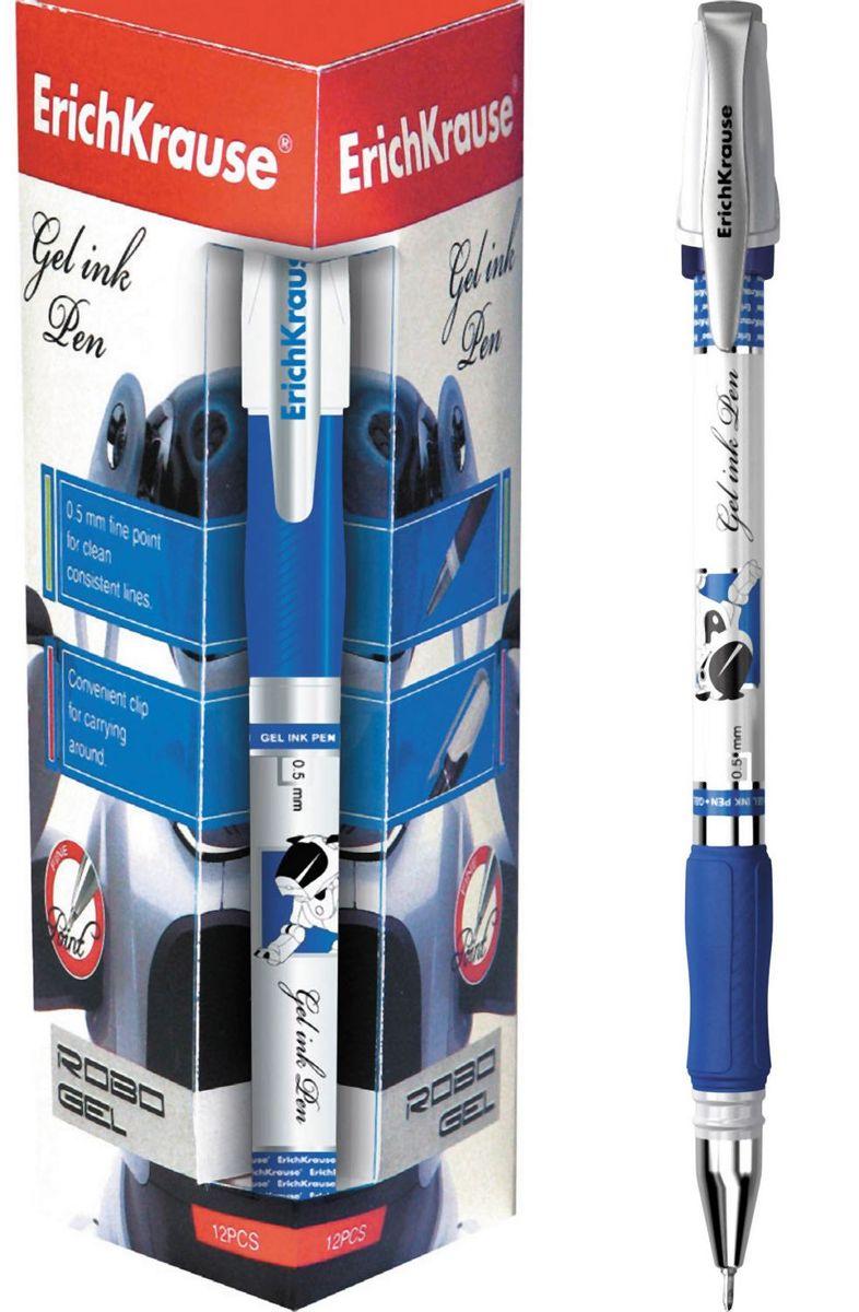 Erich Krause Ручка гелевая Robogel синяя 19942Erich KrauseЦвет чернил-синий. Гелевая ручка в стилизованном дизайне. Корпус из непрозрачного пластика с резиновым грипом. Пишущий узел 0. 5 мм. Толщина линии 0. 4 мм.Длина письма 500 м.