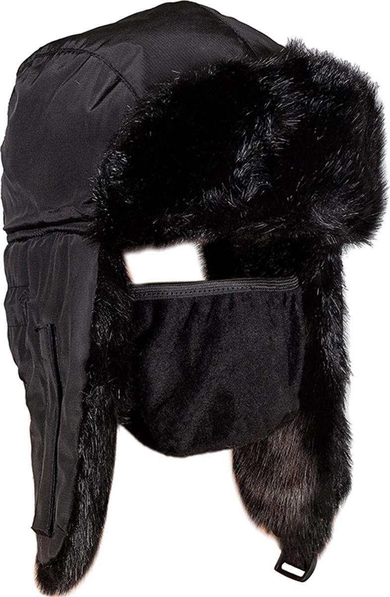 Шапка мужская HUNTSMAN Норка, цвет: черный. he_100_n-901. Размер 58/60 - Зимняя рыбалка