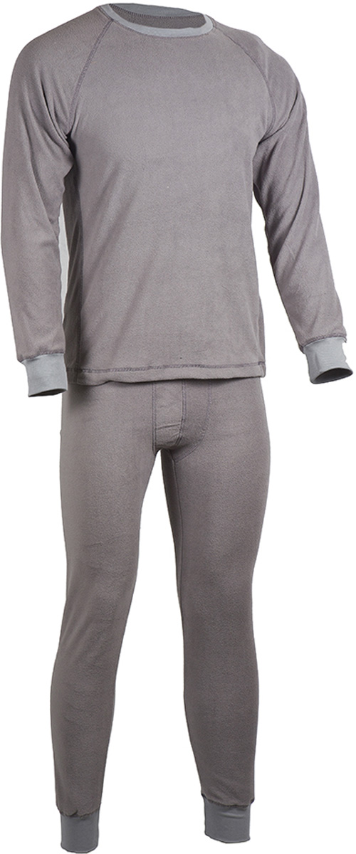 Комплект термобелья мужской HUNTSMAN: брюки, кофта, цвет: серый. h_100-974. Размер XL (52/54), рост 182h_100-974Мужское термобелье ThermoLine от Huntsman второго слоя предназначено для использования в критически низких температурах до - 40°С. Комплект состоит из кофты с длинным рукавом и брюк, выполненных из флиса. Материал удерживает до 85% полезного тепла, гипоаллергенен. Уникальная технология без внутреннего шва обеспечивает комфортную носку. Комплект позволяет сократить вес экипировки до 30%. Использование термобелья наиболее эффективно с термобельем первого слоя и мембранными костюмами.