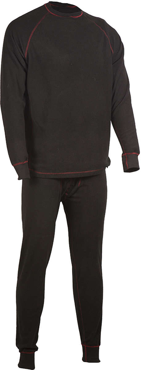 Комплект термобелья мужской HUNTSMAN: брюки, кофта, цвет: черный. h_100-901. Размер XL (52/54), рост 182h_100-901Мужское термобелье ThermoLine от Huntsman второго слоя предназначено для использования в критически низких температурах до - 40°С. Комплект состоит из кофты с длинным рукавом и брюк, выполненных из флиса. Материал удерживает до 85% полезного тепла, гипоаллергенен. Уникальная технология без внутреннего шва обеспечивает комфортную носку. Комплект позволяет сократить вес экипировки до 30%. Использование термобелья наиболее эффективно с термобельем первого слоя и мембранными костюмами.
