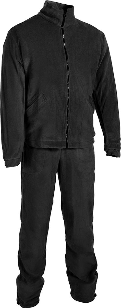 Костюм рыболовный мужской HUNTSMAN Байкал: куртка, брюки, цвет: черный. bl_200-901. Размер 52/54, рост 182bl_200-901Мужской рыболовный костюм Байкал от Huntsman выполнен из высококачественного флиса. Материал очень комфортный и мягкий. Костюм состоит из куртки и брюк.Куртка с воротником-стойкой и длинными рукавами застегивается на молнию, по низу предусмотрена утяжка. Изделие дополнено двумя боковыми карманами.Брюки прямого кроя, на поясе с резинкой и шнуром, оснащены двумя карманами. По низу брючины также дополнены утяжками. Костюм прекрасно подойдет для повседневной носки, а также в качестве термобелья под любой зимний или демисезонный костюм в холодную погоду.