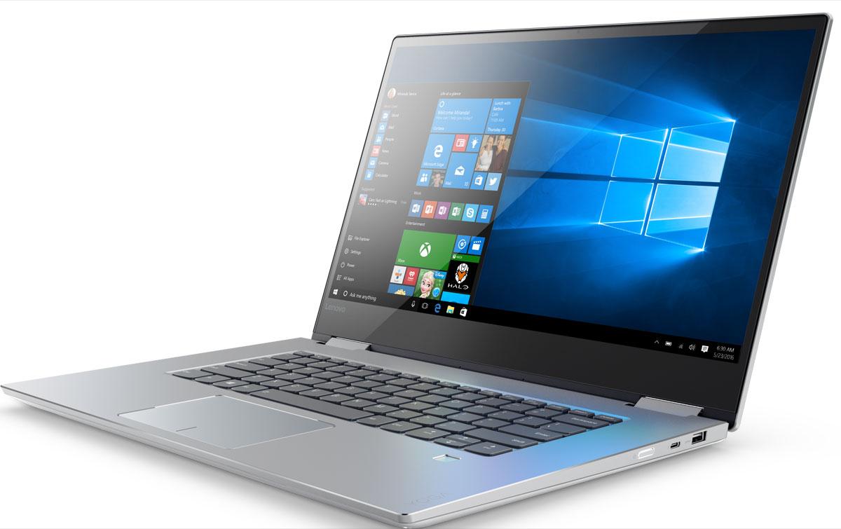 Lenovo Yoga 720-15IKB, Platinum (80X70031RK)80X70031RKLenovo Yoga 720 имеет роскошный корпус с алюминиевым покрытием. Надежный шарнирный механизмповорота экрана на 360° позволяет плавно переключаться между режимами ноутбук и планшет. Обладатель премии за лучший дизайн iFDesign ноутбук-трансформер адаптируется к любой ситуации: от встречи с клиентами до просмотра веб-страниц, сидя в уютном кресле.Благодаря времени автономной работы до десяти часов можно с легкостью решать любые задачи.Lenovo Yoga 720 обеспечивает эффективную работу в режиме многозадачности, высокую производительность инеобходимую вычислительную мощность для игр, видеорендеринга и графического дизайна. Кроме того, твердотельный накопитель (SSD)гарантирует высокую скорость загрузки системы и передачи данных, а оперативная память DDR4 объемом до 8 ГБ позволяет работать сбольшим количеством приложений, ресурсоемких программ и файлов без задержек.Lenovo Yoga 720 - один из немногих ноутбуков-трансформеров с высокопроизводительной графической подсистемой, что существенновыделяет его среди аналогов на рынке. Обрабатывай сразу несколько видео, играй в самые современные игры, редактируй фото или решайвсе эти задачи одновременно. Без малейшего промедления.На Lenovo Yoga 720 предустановлена Windows 10 со множеством новых функций, которые упростят твою жизнь. Воспользуйся персональнымпомощником Cortana, который ответит на твои вопросы, откроет нужные приложения, установит напоминания и даже озвучить события изтвоего календаря. Просто введи запрос в поисковую строку или задай его вслух с помощью функции голосового управления. Cortanaвзаимодействует с множеством приложений и услуг, чтобы обеспечивать тебя необходимой информацией в нужное время. Благодаряподдержке всех устройств Windows 10, Cortana позволяет эффективно организовать работу.С новым высокоточным стилусом Lenovo Active Pen 2 с функцией предотвращения случайного срабатывания сенсорной панели делать записив ноутбуке так же просто, как и обычной ручкой на 