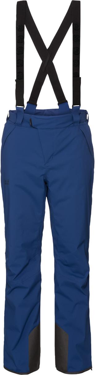 Брюки утепленные мужские Jack Wolfskin Exolight Pants, цвет: синий. 1109501. Размер 501109501Мужские утепленные брюки Jack Wolfskin выполнены их полиэстера. Особый наружный материал защищает вас от мокрого снега и холодных ветров. Эластичность ткани обеспечивает полную свободу движения. В брюках используется износостойкий синтетический утеплитель. Он абсолютно невосприимчив к влаге и эффективно сохраняет тепло. Модель прямого кроя, застегивается на ремешок с липучкой по поясу и имеет ширинку на застежке-молнии. Изделие имеет два кармана на бедрах, карман для горнолыжного абонемента, съемные подтяжки, интегрированные гамаши. Брюки регулируются в объеме талии и в области лодыжек.