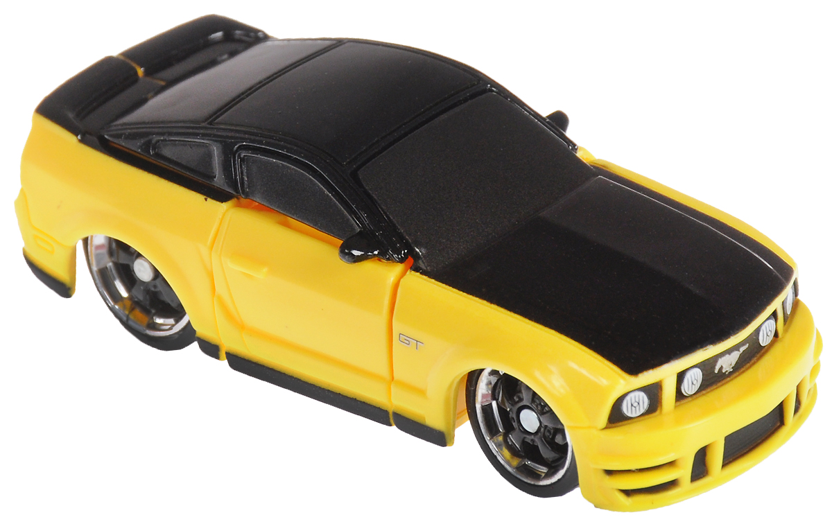 Maisto Трансформер '06 Ford Mustang GT цвет желтый черный игрушка maisto трансформирующаяся машина menace hauler scout x3 81120