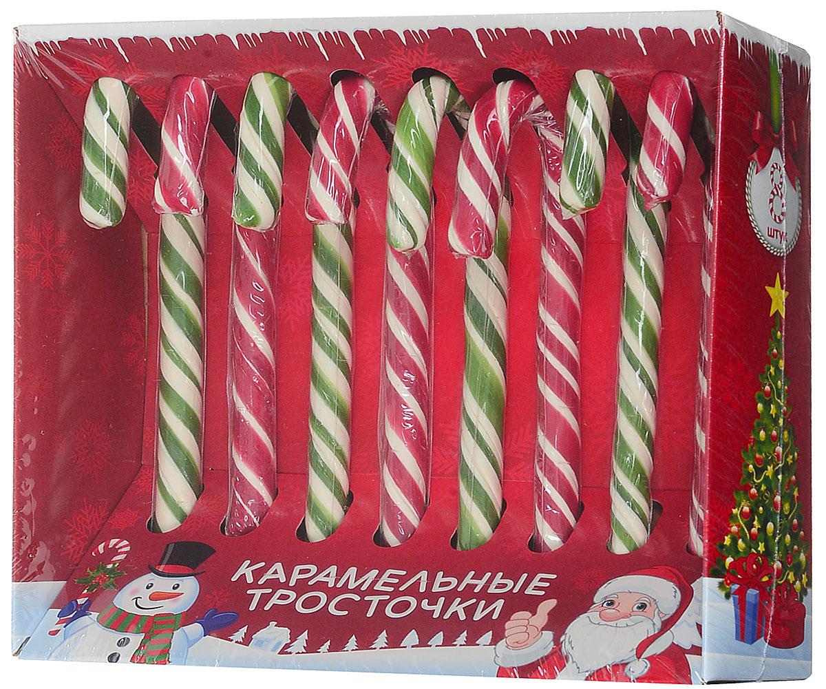 Сладкая Сказка Карамельные тросточки, 8 шт по 15 гКТ-1-4Карамельные тросточки Сладкая Сказка станут неотъемлемым атрибутом новогодних и рождественских праздников.Упаковка с новогодним дизайном и праздничной открыткой. Леденец можно использовать как украшение для елки, праздничного стола или подарков, а также размешать им горячий шоколад, чай или какао.