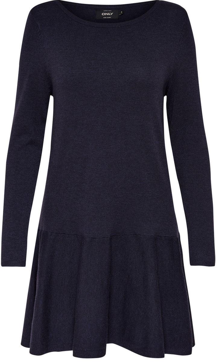 Платье Only, цвет: темно-синий. 15139191_Sky Captain. Размер XS (40/42) платье only цвет черный 15139191 black размер xs 40 42