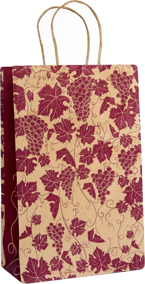 Пакет крафт Виноградная лоза, 22 х 34 х 10 см4610009210261Подарочный пакет Правила Успеха Виноградная лоза выполнен из крафт-бумаги - очень актуального материала на сегодняшний день. Благодаря красивому рисунку, пакет идеально подходит в качестве упаковки для вина, шампанского, коньяка. Подойдет как мужчинам, так и женщинам.Дно изделия укреплено плотным картоном, который позволяет сохранить форму пакета и исключает возможность деформации под тяжестью подарка. Для удобной переноски на пакете имеются ручки.Подарок, преподнесенный в оригинальной упаковке, всегда будет самым эффектным и запоминающимся. Окружите близких людей вниманием и заботой, вручив презент в нарядном, праздничном оформлении.