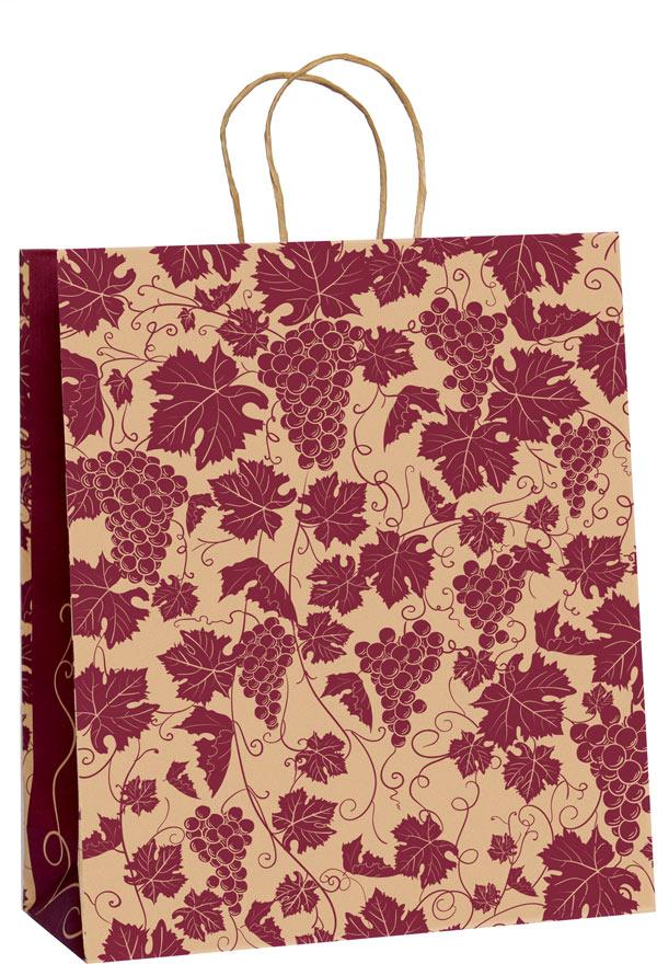 Крафт-пакет подарочный Виноградная лоза, 32 х 40 х 15 см4610009210353Подарочный пакет Виноградная лоза выполнен из крафт-бумаги - очень актуального материала на сегодняшний день. Благодаря красивому рисунку, пакет идеально подходит в качестве упаковки для вина, шампанского, коньяка. Подойдет как мужчинам, так и дамам.Дно изделия укреплено плотным картоном, который позволяет сохранить форму пакета и исключает возможность деформации под тяжестью подарка. Для удобной переноски на пакете имеются ручки.Подарок, преподнесенный в оригинальной упаковке, всегда будет самым эффектным и запоминающимся. Окружите близких людей вниманием и заботой, вручив презент в нарядном, праздничном оформлении.